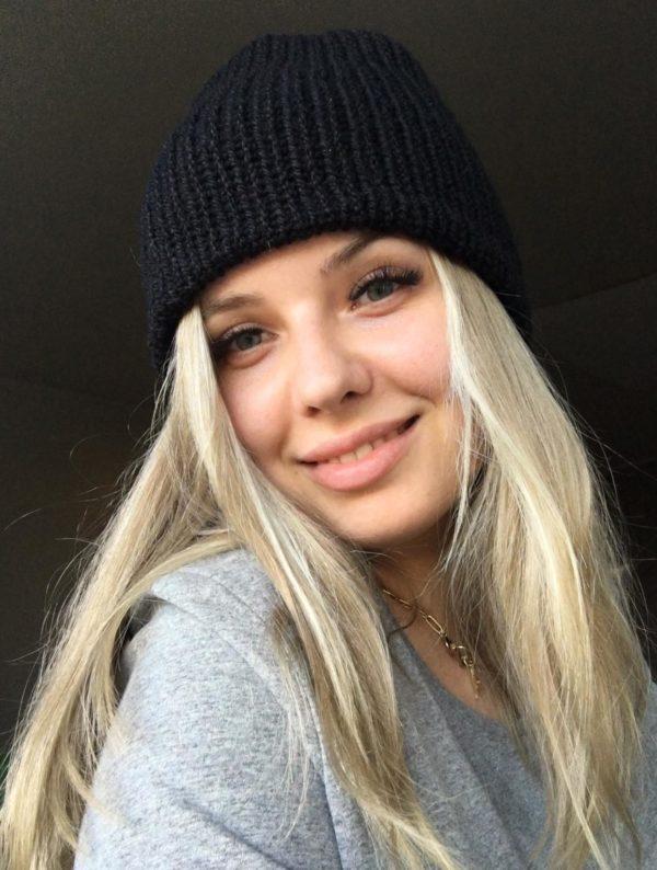 czapka na jesień/zimę czarna