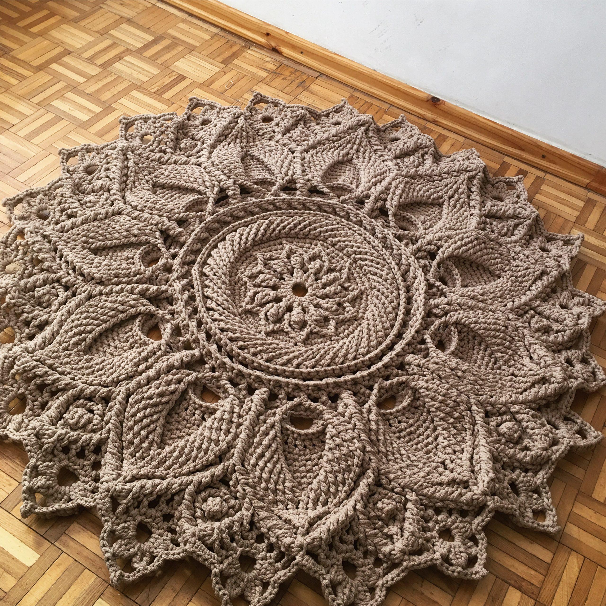 Dywan Ulita 3D Handmade ze sznurka bawełnianego w wybranym kolorze