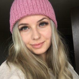 czapka różowa